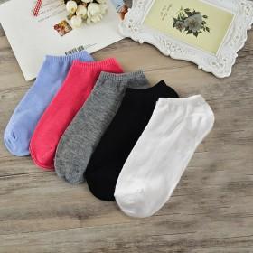袜子女短袜浅口爱心袜子短女士糖果色女士船袜子