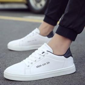 春季男士鞋子青少年流行男鞋时尚板鞋韩版休闲鞋个性青