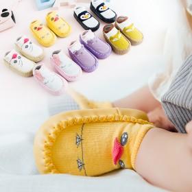 婴儿学步袜春秋宝宝地板袜0-6-12月儿童鞋袜防滑