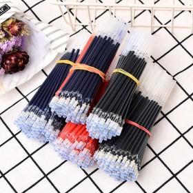 中性笔笔芯黑色子弹头0.5m学生办公针管笔芯签字笔