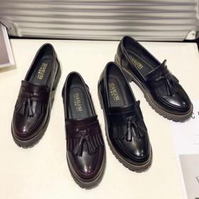 女鞋新款小皮鞋单鞋英伦学院风复古