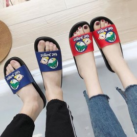 居家拖鞋女室内夏秋季厚底亲子卡通家用凉拖洗澡防滑软