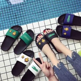 夏季情侣家用凉拖鞋男女居家情侣可爱防滑厚底夏室内浴