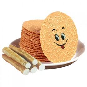 薄脆饼干铁棍山药芝麻片750克1.5斤特惠独立包装