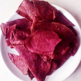无添加香酥脆甜的烤紫薯片地瓜片脆片500克包邮