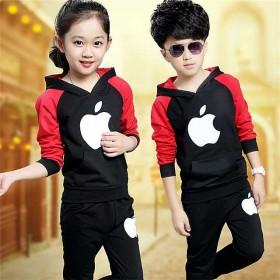 春秋新款童装男童女童运动套装儿童纯棉长袖2件套