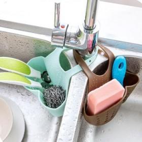 水龙头收纳挂篮 按扣式浴室收纳挂袋水槽沥水挂袋
