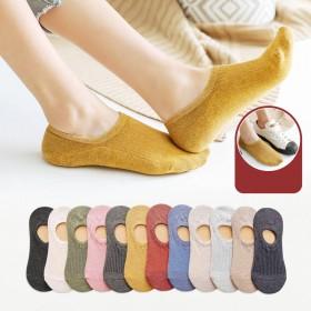 5双装袜子女船袜女生隐形四季款学院日系棉袜子短袜浅