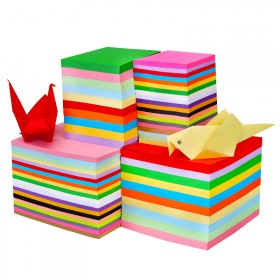 折纸彩色彩纸卡纸剪纸书手工纸材料正方形儿童千纸2