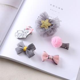 可爱公主头饰发夹全包布儿童宝宝边夹发卡饰品 韩国