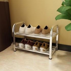 不锈钢鞋架多层特价简易家用防尘金属加厚置物架经济型