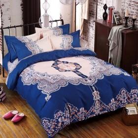ins网红简约加厚磨毛四件套床单被套床上用品