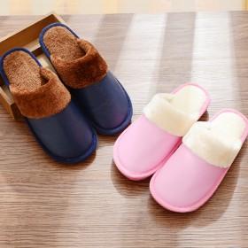冬季情侣棉拖鞋男女保暖防滑柔软居家拖鞋