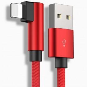 2条弯头快充苹果数据线安卓vivo/oppo充电线