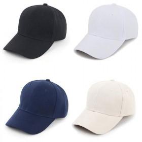 帽子女春秋韩版纯色棒球帽防晒帽潮男鸭舌帽
