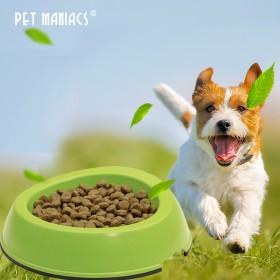 狗双碗喂食器食盆环保竹纤维猫咪狗碗防滑宠物用品
