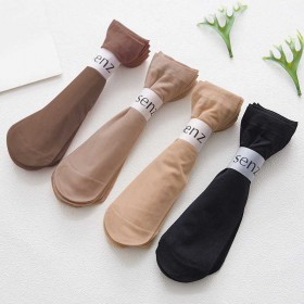 5双装袜子女防勾丝短丝袜夏季薄款女士短袜子中筒袜女