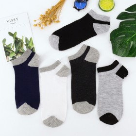 四双 船袜透气吸汗短筒袜 赠品 涤棉袜子四季男士