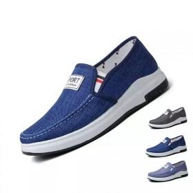 春季男鞋老北京布鞋牛仔帆布鞋平底休闲鞋防滑耐磨鞋