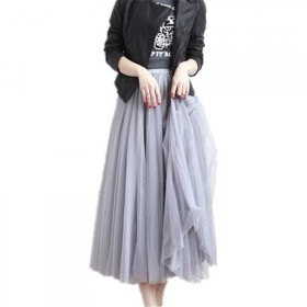 三层纱加内衬共四层,半身裙女2019春季新款网纱