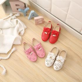 女童镂空小皮鞋新款春秋季大童中童小童