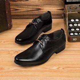春新款商务正装皮鞋男士英伦皮鞋系带休闲鞋潮流婚鞋男