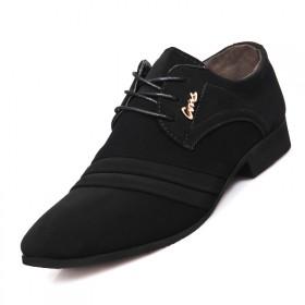 春季休闲鞋男士商务正装皮鞋子男尖头婚鞋潮流磨砂男鞋