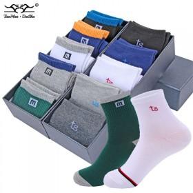 10双装春夏秋冬款男袜中筒袜子男士商务袜