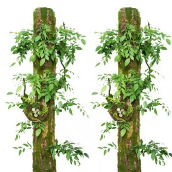 包下水管装饰遮挡暖气煤气管道包柱子阳台仿真树皮假树