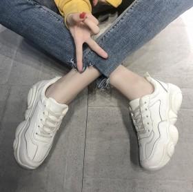【卖完涨价】小白鞋休闲鞋女韩版原宿小熊老爹鞋