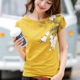 新款短袖t恤女宽松白色大版2019百搭韩版学生