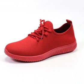 秋季新款老北京布鞋女鞋耐磨运动小红鞋黑红色系带休闲