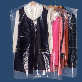 10个装衣服防尘罩挂式透明塑料干洗店