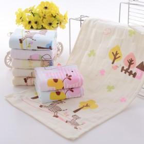 卡通印花儿童吸水毛巾婴童宝宝擦手巾洗脸面巾纯棉毛巾