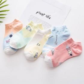 【5双装】女袜船袜隐形袜短袜浅口袜四季袜棉袜中长袜
