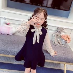 中小童连衣裙春装新款韩版洋气公主裙可爱小女孩A字裙