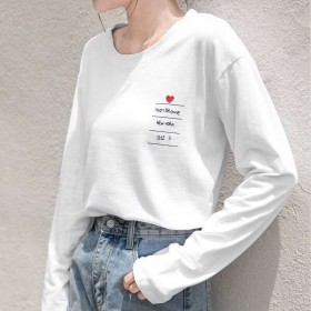 2019长袖女T恤百搭上衣装宽松打底衫修身显瘦体恤