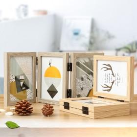 创意礼品相框双面折叠免费洗相片
