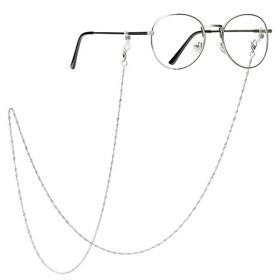 新款圆形带长链条眼镜文艺情侣眼镜