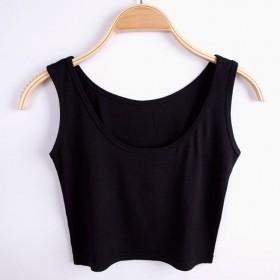 修身女士肚脐装上衣宽松运动时尚瑜伽小背心潮简约显瘦
