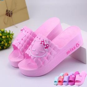 2018新款时尚女夏季厚底室内防滑防水可爱韩版拖鞋