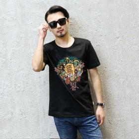 19新款夏季男士短袖t恤圆领半袖衣服韩版潮流夏装体