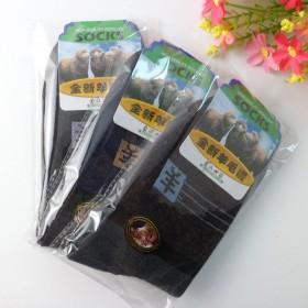 春秋独立包装羊毛袜 中筒袜 加厚男士防臭清新袜