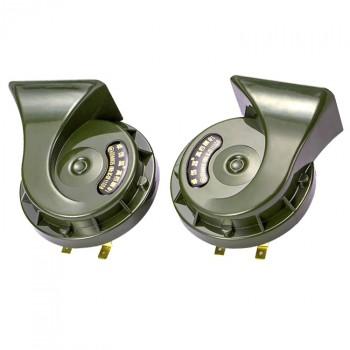 汽车蜗牛喇叭12v超响防水高低双音鸣笛喇叭24V改
