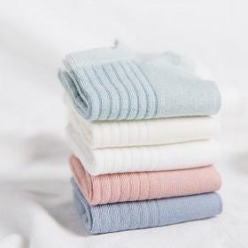 1双低帮袜子春季休闲百搭经典纯色竖纹纯棉短袜全棉中