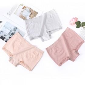 【3件装】日系性感内裤女收腹纯棉裆蕾丝少女细条纹