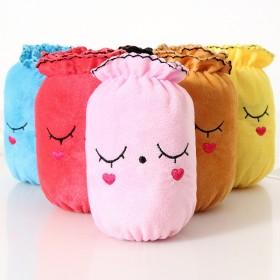 韩版可爱女短款绒布袖套儿童袖头冬季眯眼兔子污脏护袖