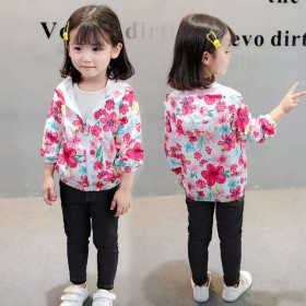 女童外套春秋韩版洋气时髦春秋装夹克小女孩上衣棒球服