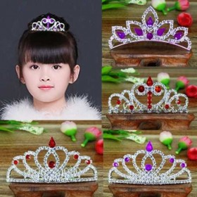 韩国儿童皇冠可爱公主皇冠插梳女童发饰宝宝水钻发箍饰