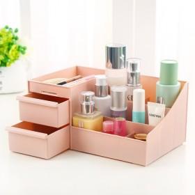 大号化妆品收纳盒塑料抽屉式储物盒梳妆台桌面收纳盒整
